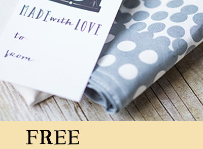 free printable gift tags handmade sewing gifts