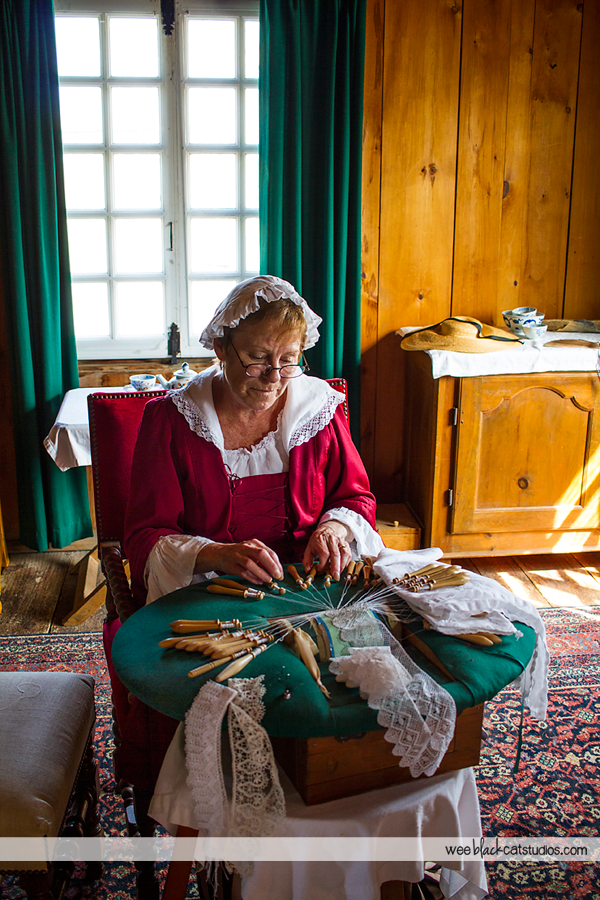 Lacemaker at Fortress of Louisbourg, Cape Breton