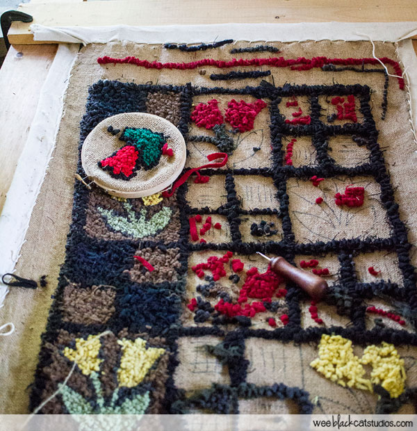 Rug Hooking at the Wile Carding Museum Nova Scotia