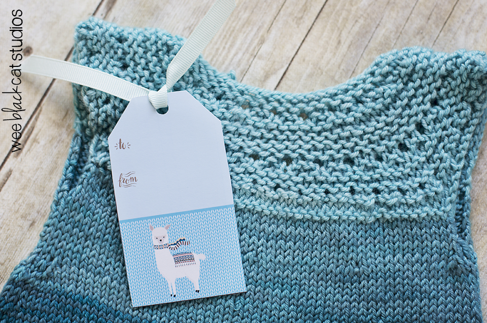 Sweet gift tags for your hand-knit items.