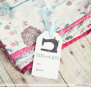 Free printable gift tags for homemade projects.
